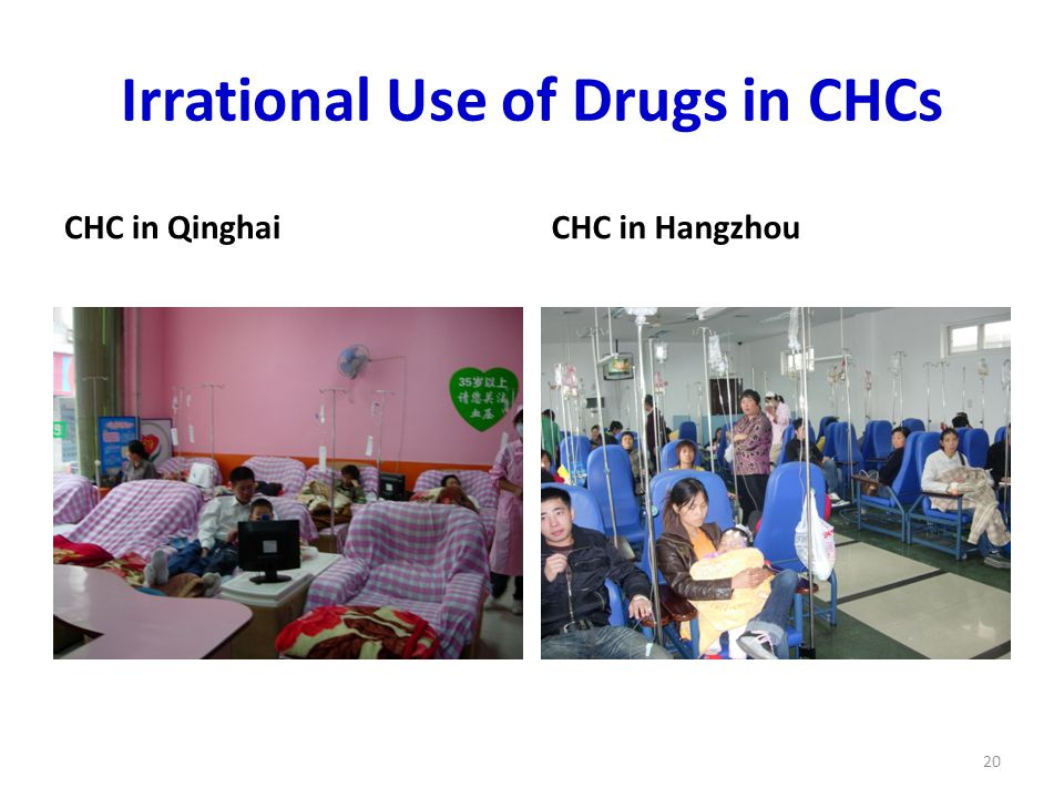 Irrational Use of Drugs in CHCs CHC in QinghaiCHC in Hangzhou 20