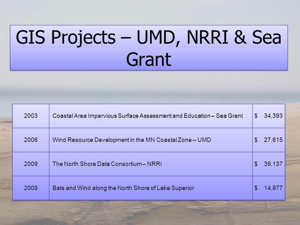 GIS Projects – UMD, NRRI & Sea Grant