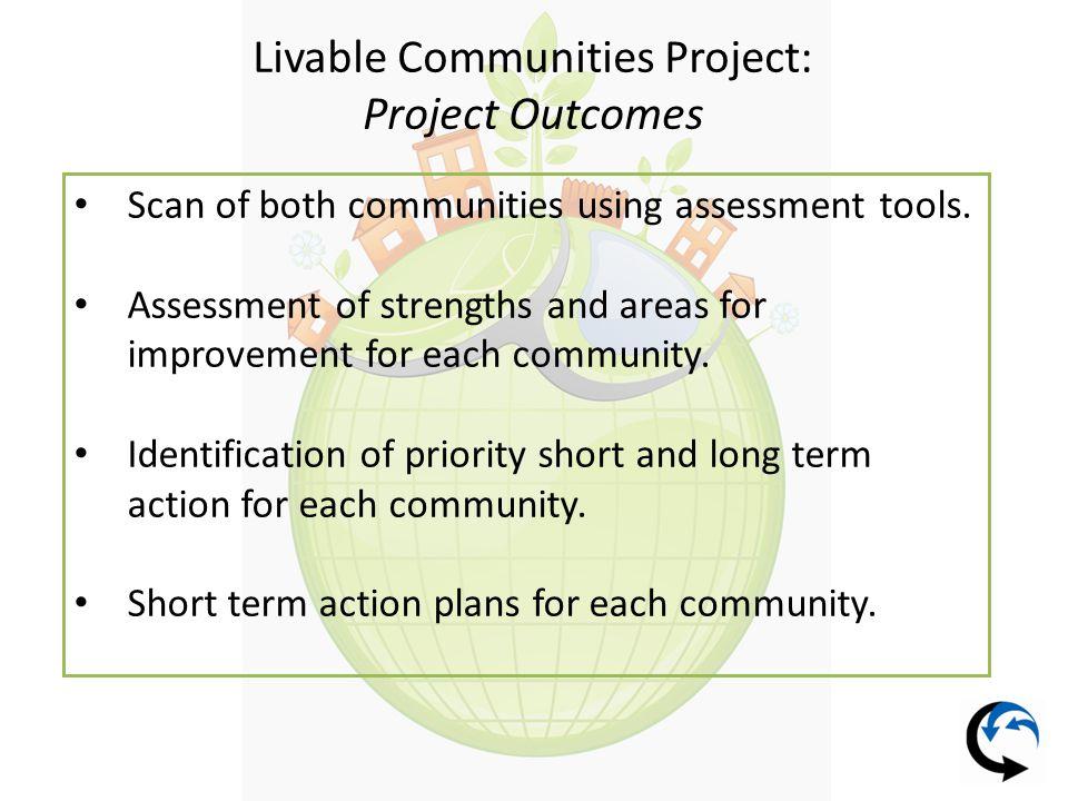 Livable Communities Project: Identified City of Waterloo Priorities Recreation/Leisure 1.
