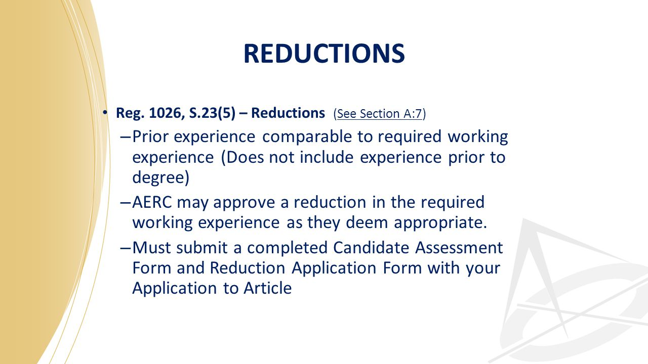 REDUCTIONS Reg.