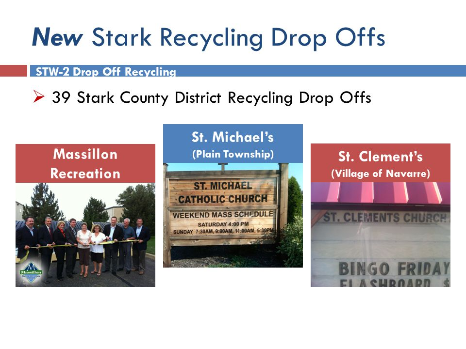 New Stark Recycling Drop Offs Massillon Recreation St.