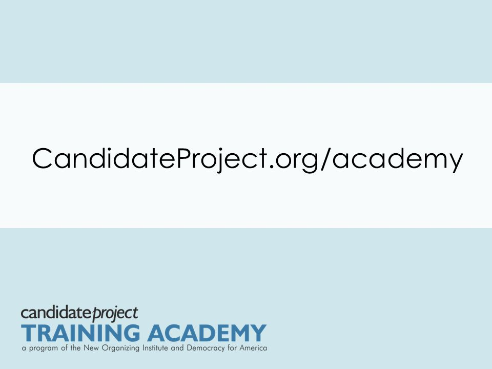 CandidateProject.org/academy
