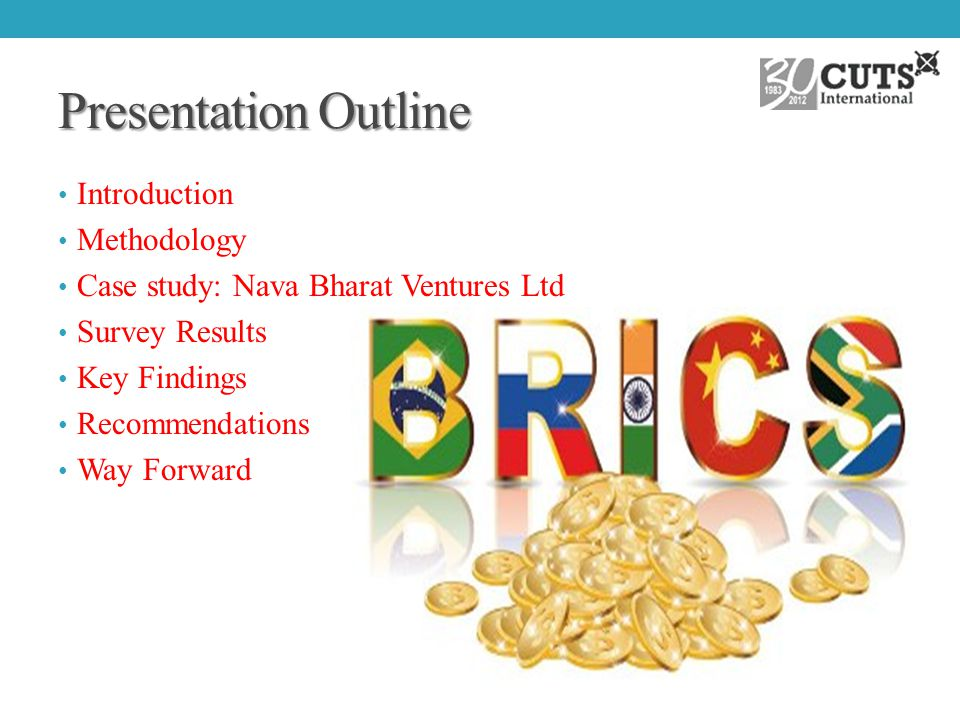 Presentation Outline Introduction Methodology Case study: Nava Bharat Ventures Ltd Survey Results Key Findings Recommendations Way Forward