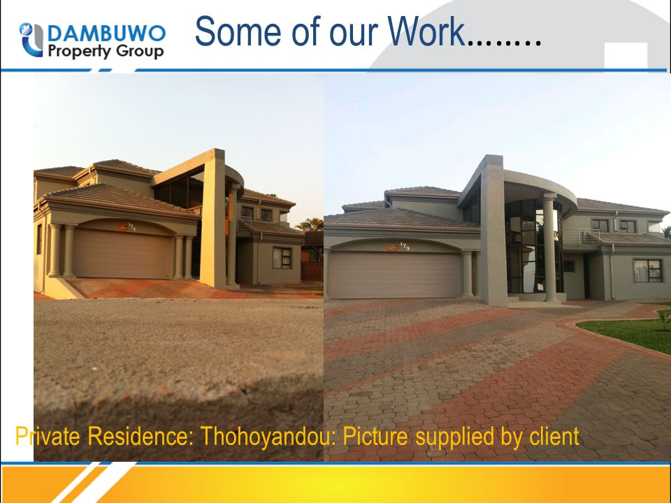 Some of our Work …….. Private Residence: Thohoyandou: Picture supplied by client