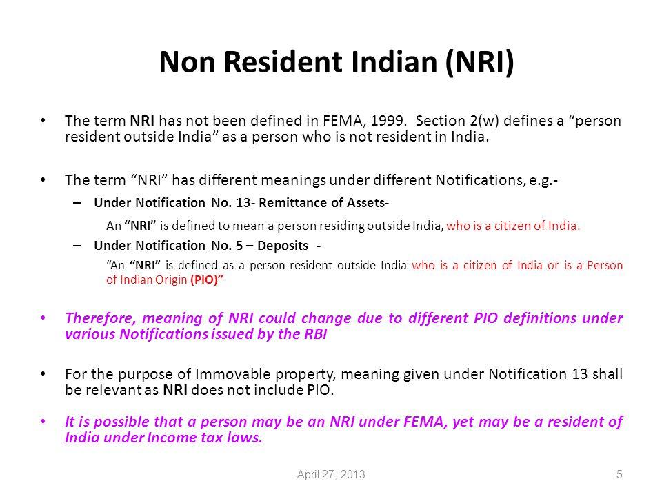 FDI in Real Estate Development 36 Certain critical Issues April 27, 2013