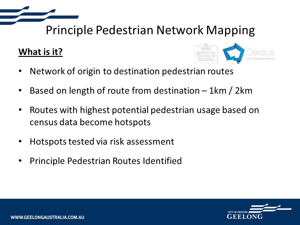 Principle Pedestrian Network Mapping What is it.