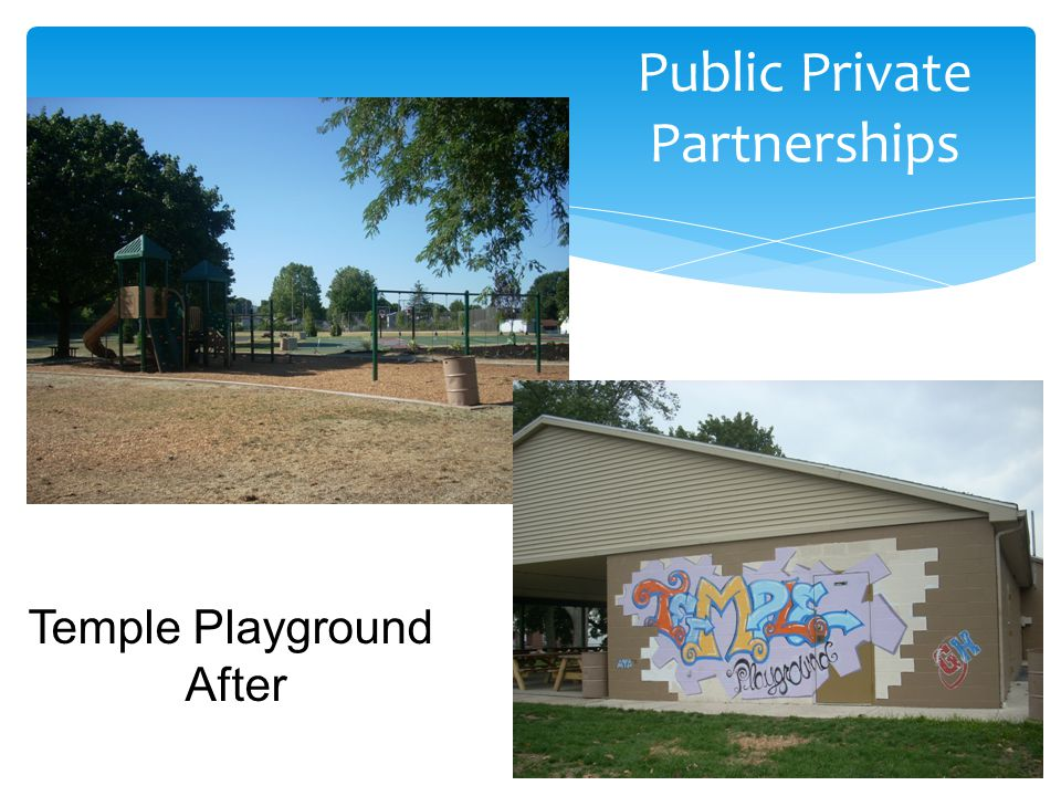 Public Private Partnerships Temple Playground After