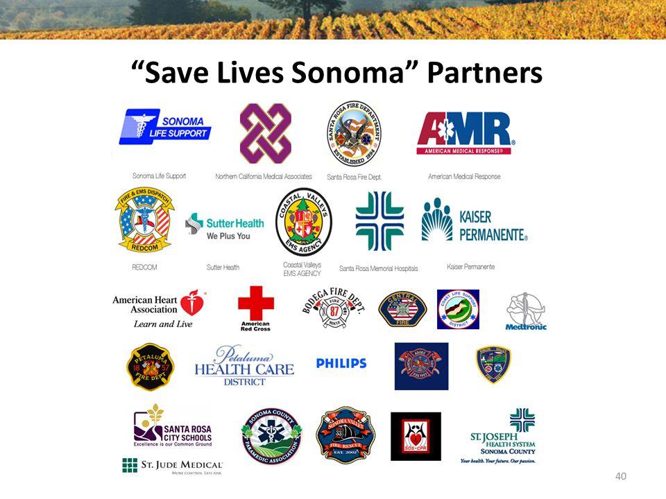 """Save Lives Sonoma"" Partners 40"