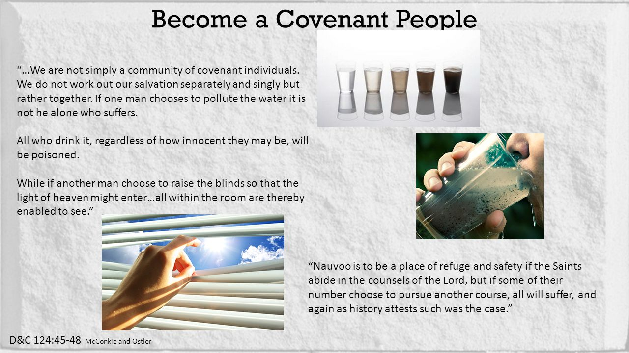 …We are not simply a community of covenant individuals.