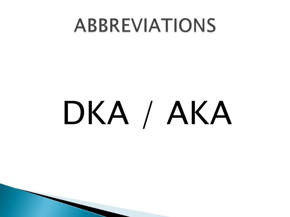 DKA / AKA