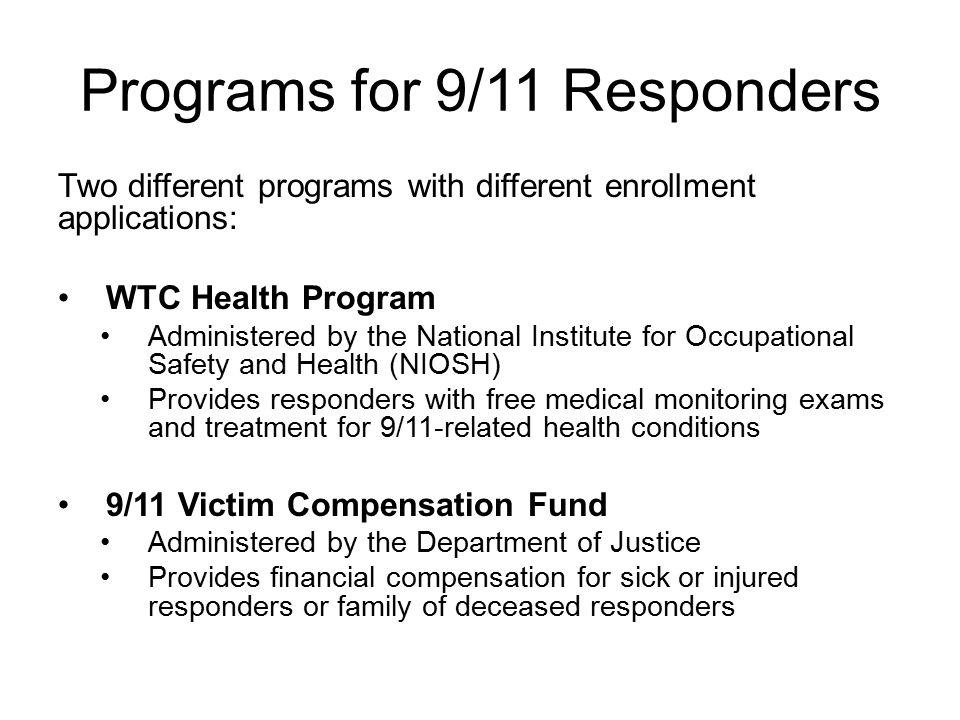 The WTC Health Program replaces the Mt.