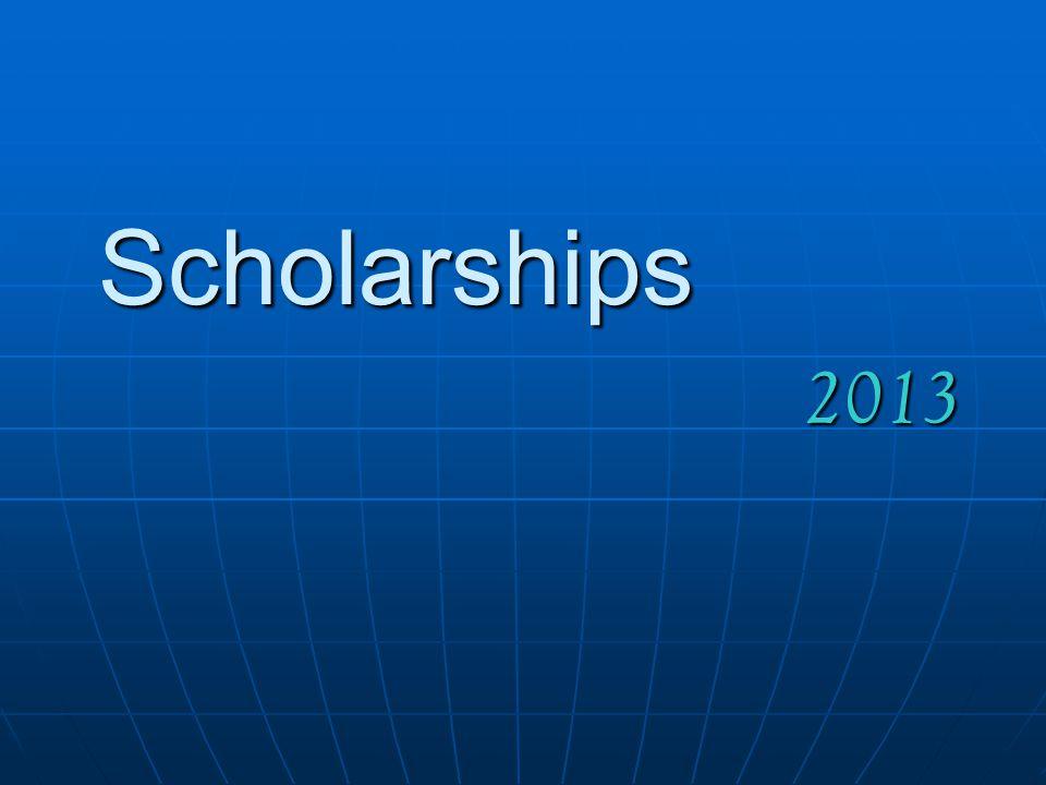 Scholarships 2013