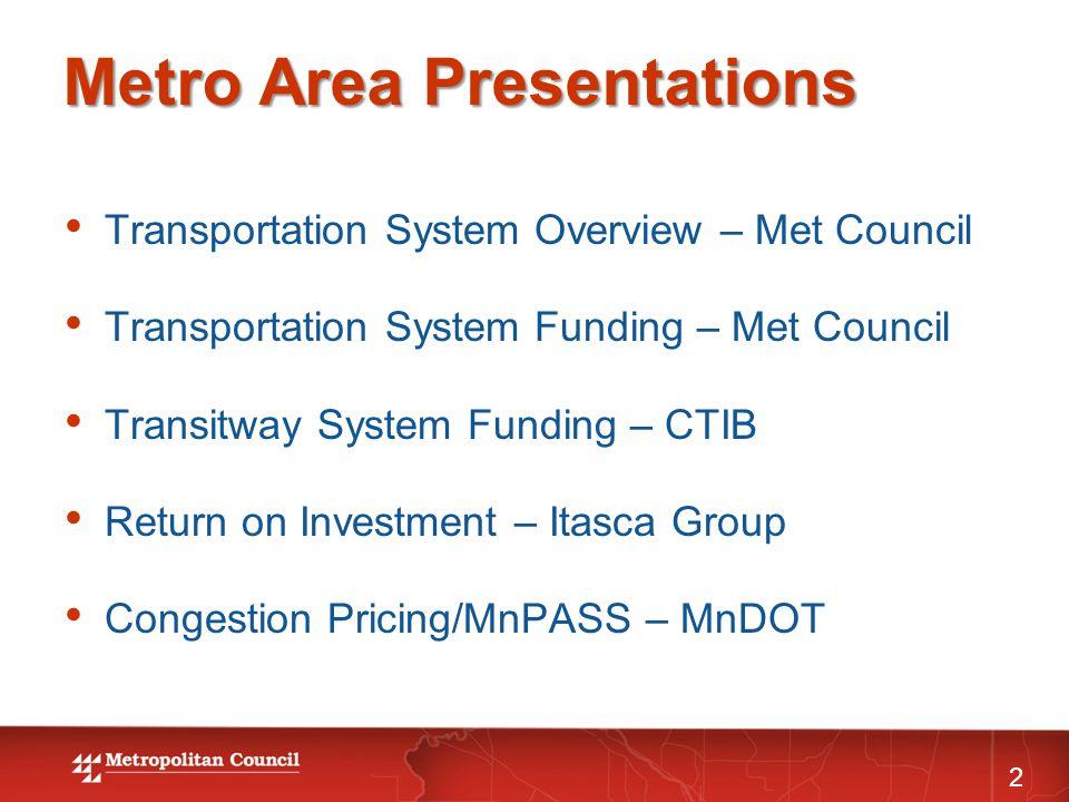 Metropolitan Road and Transit Funding Sources Total - $2.5 B (Est.