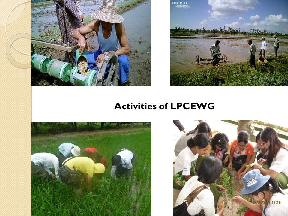 Activities of LPCEWG
