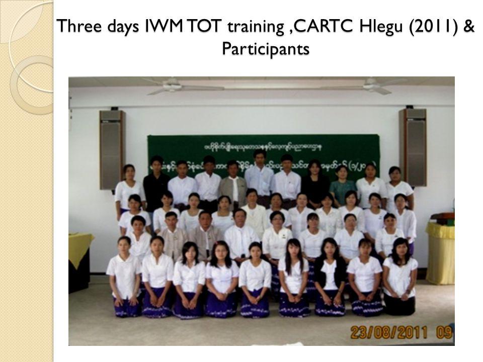 Three days IWM TOT training,CARTC Hlegu (2011) & Participants