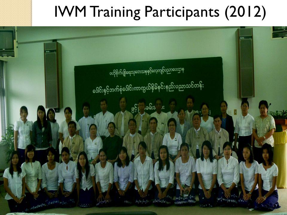 IWM Training Participants (2012)