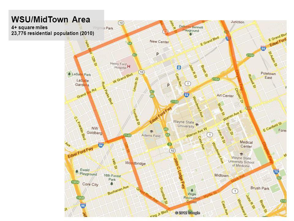 WSU/MidTown Area 4+ square miles 23,776 residential population (2010)