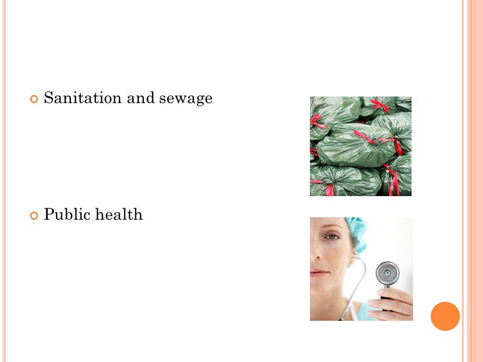 Sanitation and sewage Public health
