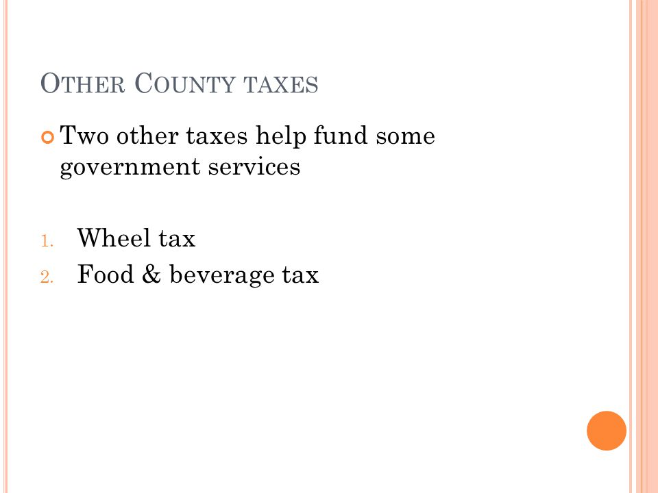 P ROPERTY TAXES Property taxes are the main source of funding for local Indiana government.