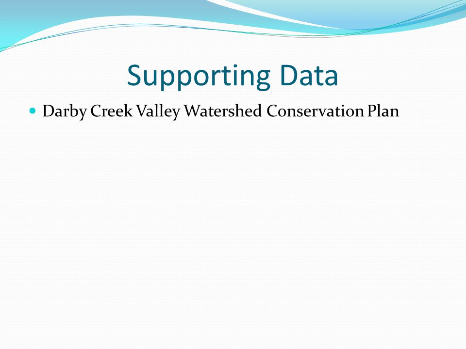 Supporting Data Darby Creek Valley Watershed Conservation Plan