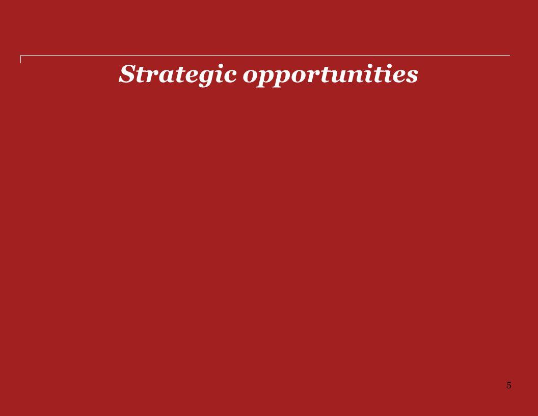 Strategic opportunities 5