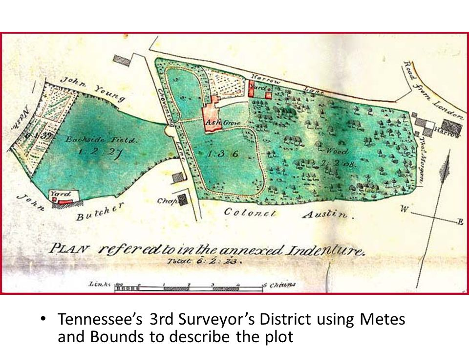 Tennessee's 3rd Surveyor's District using Metes and Bounds to describe the plot