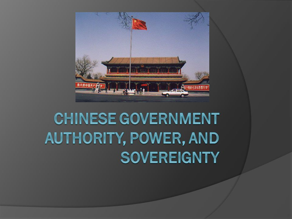 Power in People's Republic of China (PRC)  China used to be a monarchy with an emperor and a supporting bureaucracy.