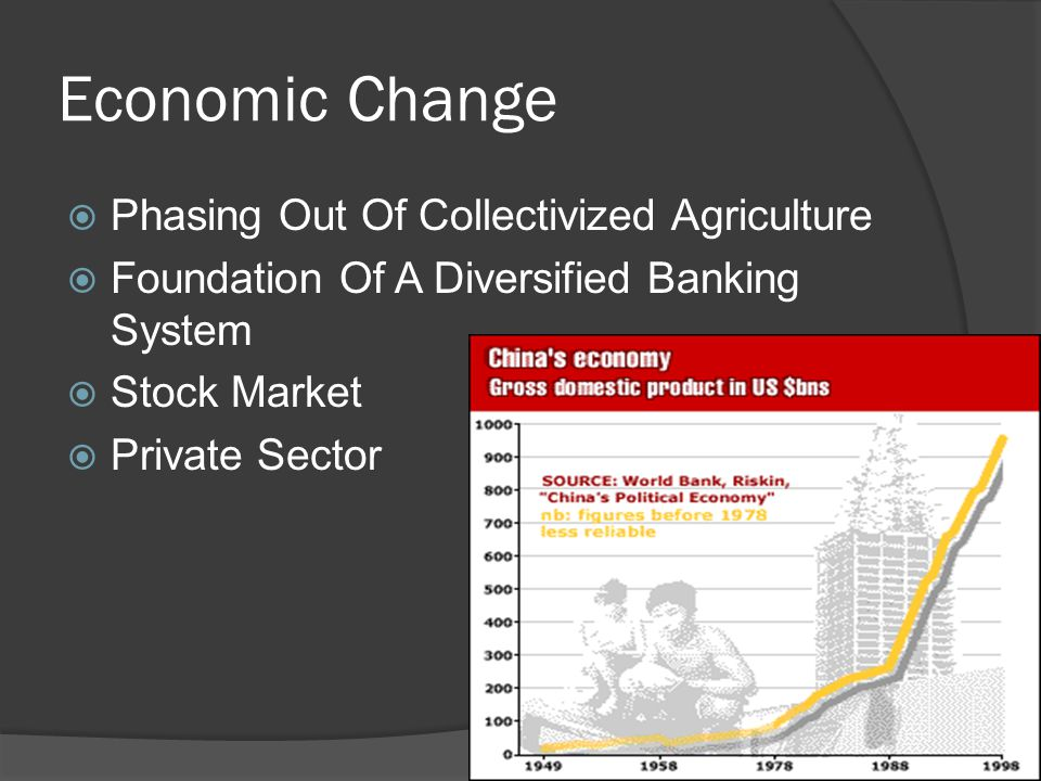 Economic Change  Phasing Out Of Collectivized Agriculture  Foundation Of A Diversified Banking System  Stock Market  Private Sector