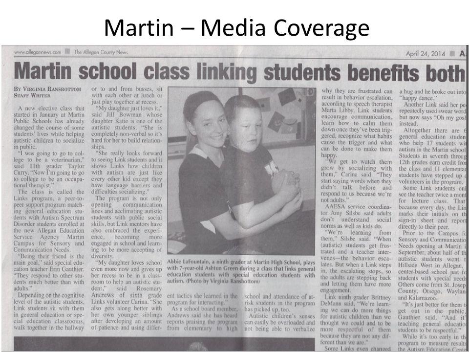 Martin – Media Coverage