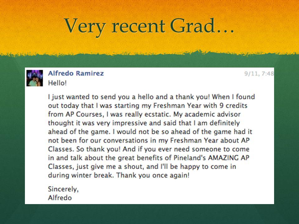 Very recent Grad…