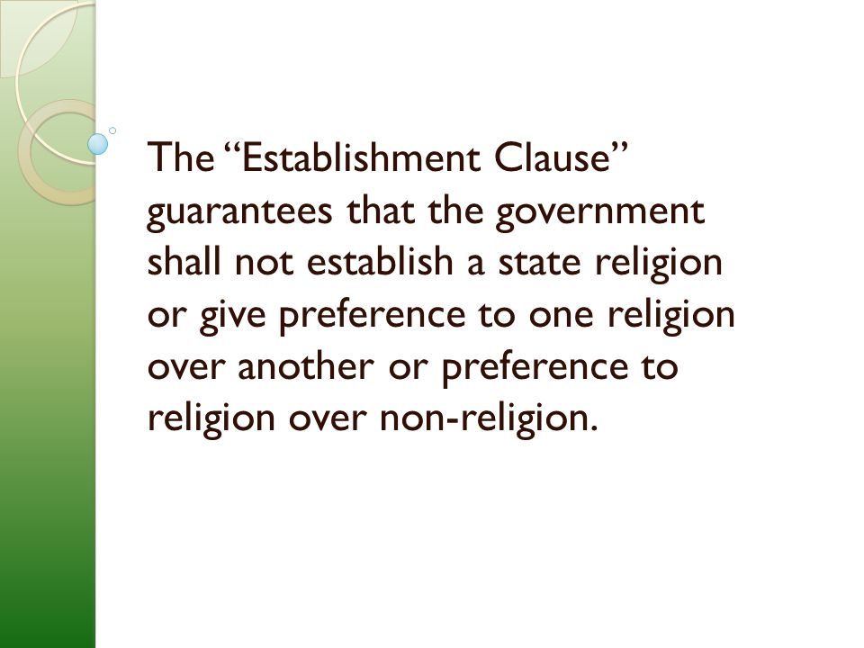 The Free Exercise Class safeguards an individual's right to practice his/her religion (within parameters that need not be elaborated here).