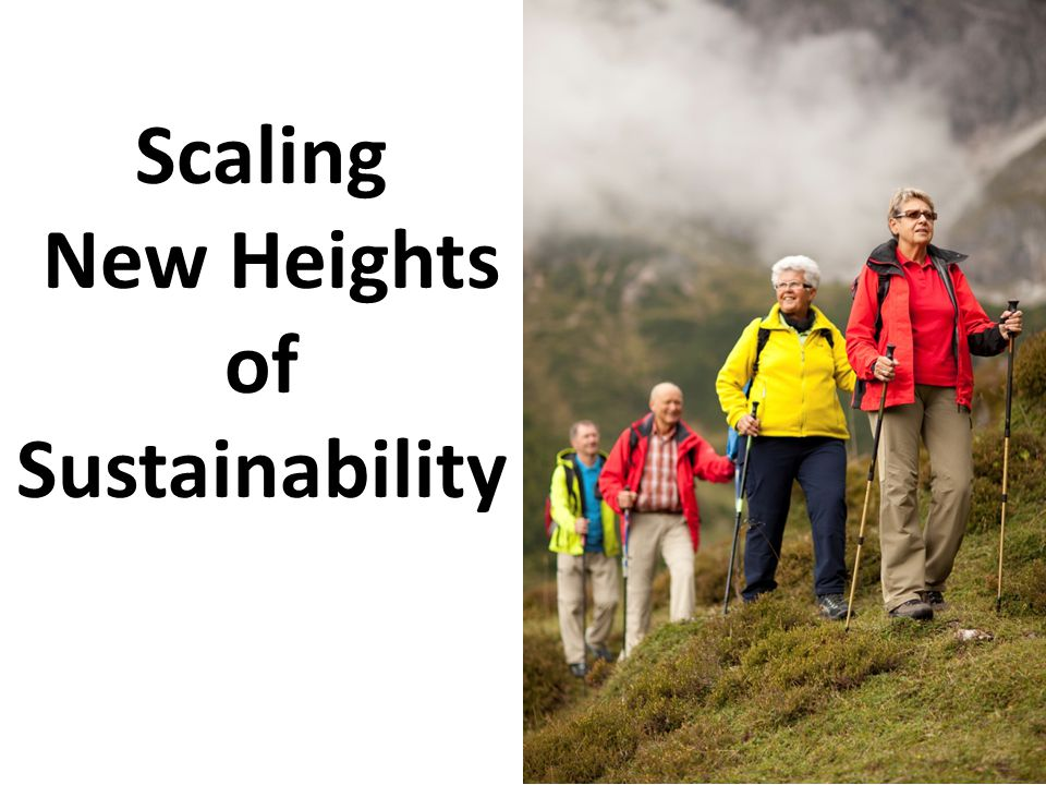 Scaling New Heights of Sustainability