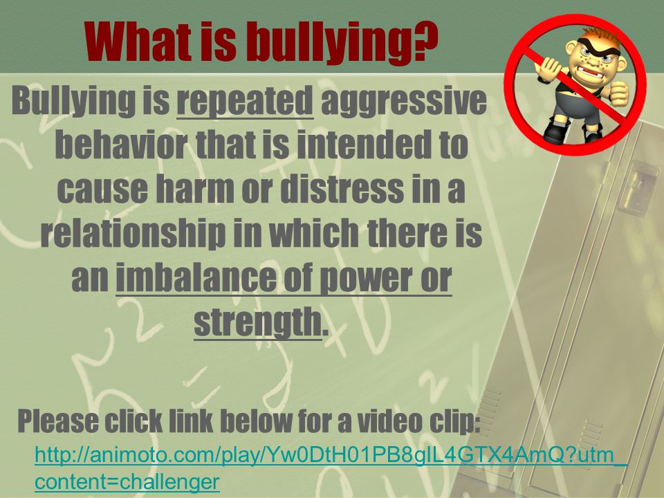 Forms of Bullying: Physical Verbal Emotional Cyber What are examples of each form of bullying?