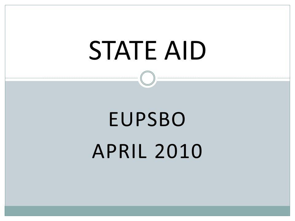 EUPSBO APRIL 2010 STATE AID