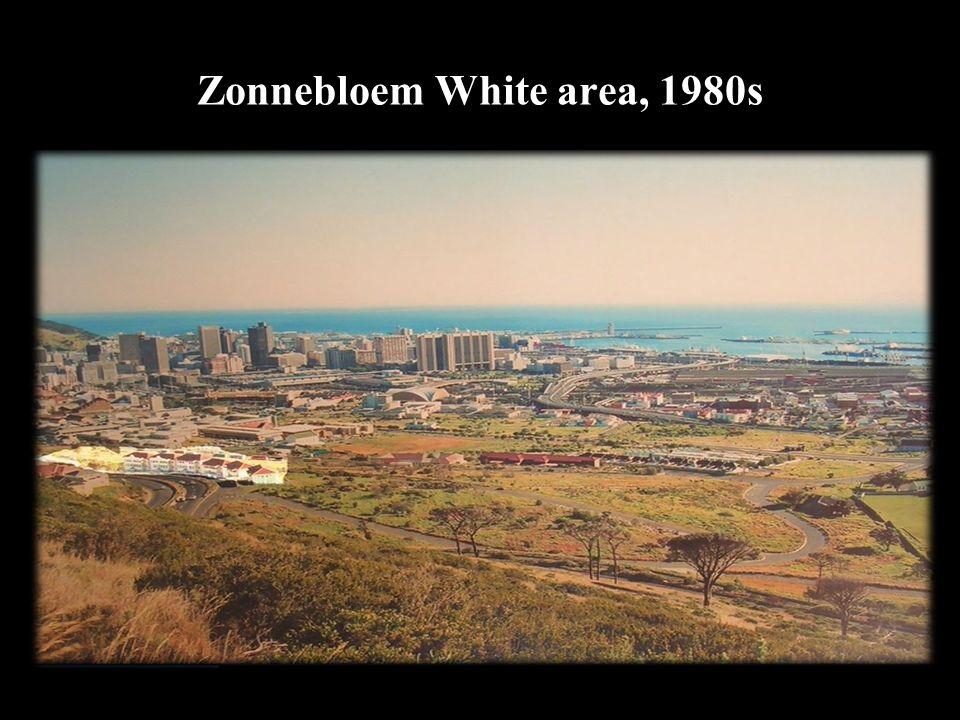 Zonnebloem White area, 1980s