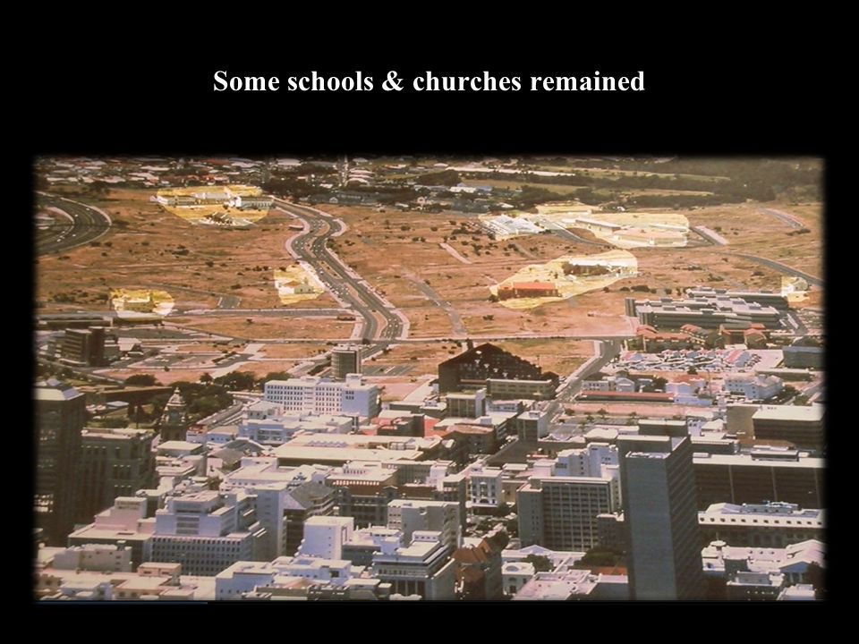 Some schools & churches remained