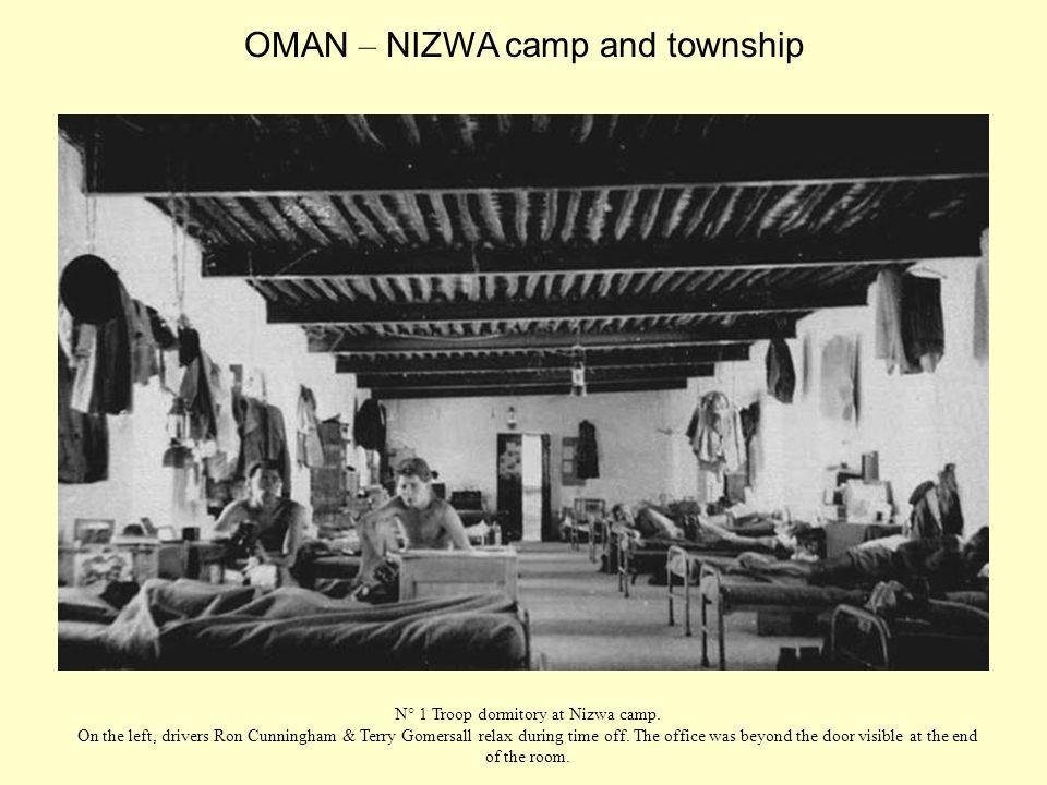 N° 1 Troop dormitory at Nizwa camp.