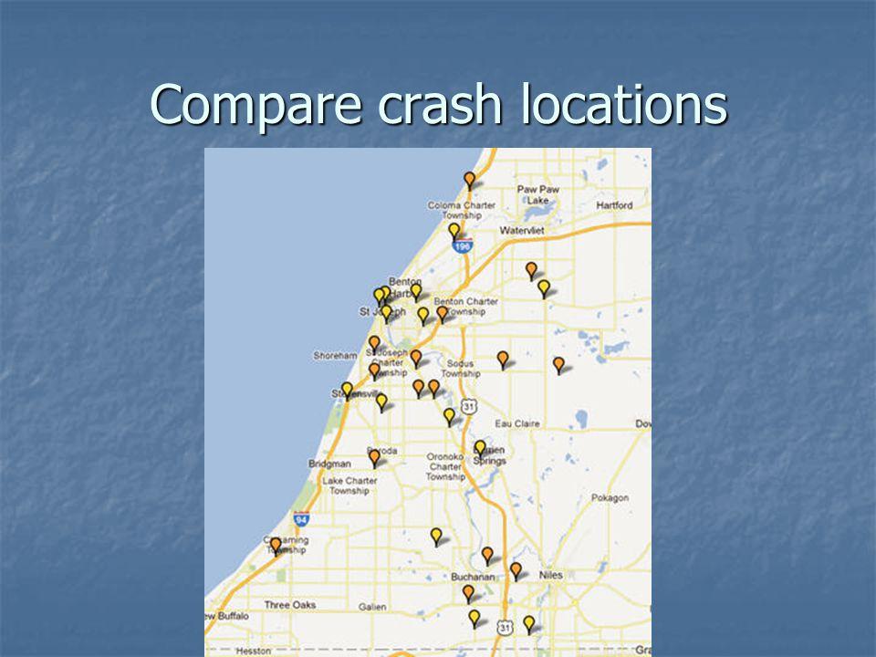 Compare crash locations