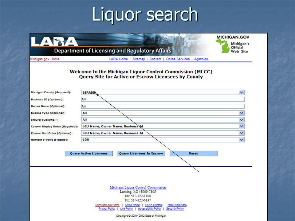 Liquor search