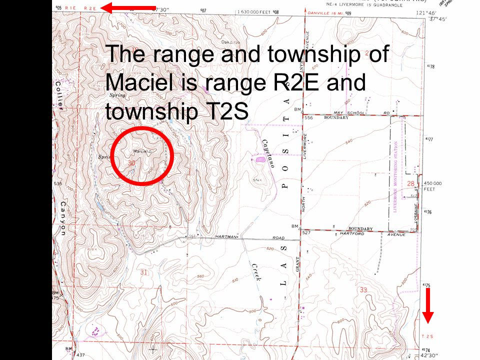 12 The range and township of Maciel is range R2E and township T2S