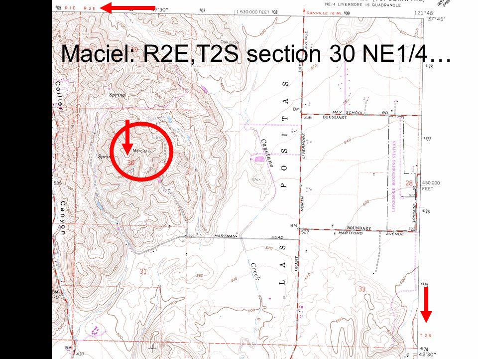 21 Maciel: R2E,T2S section 30 NE1/4…