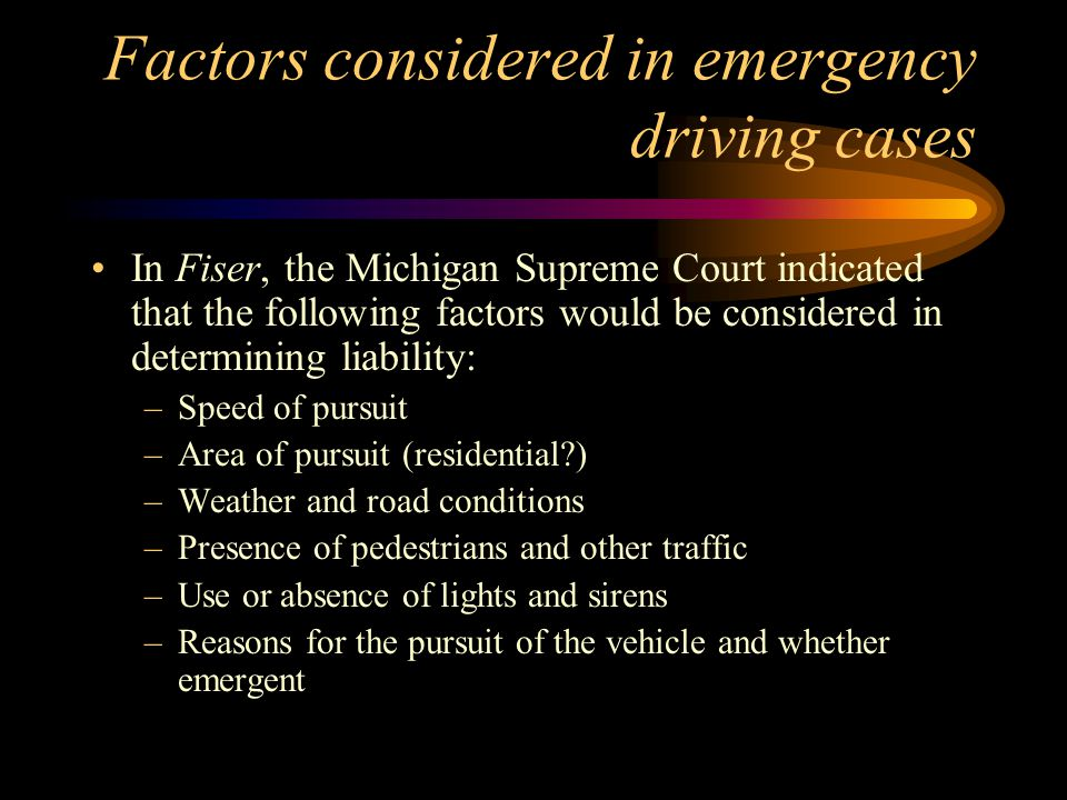 Michigan liability lawsuits Frame- continued –The Plaintiff in Frame also unsuccessfully asserted a federal claim under 42 USC Section 1983- municipality's deprivation of property or liberty.
