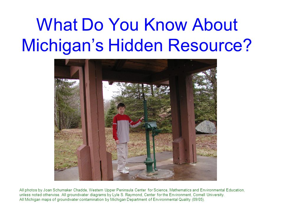 What Do You Know About Michigan's Hidden Resource.
