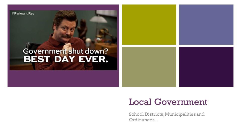 Local Governments… Make and enforce local laws known as Ordinances.