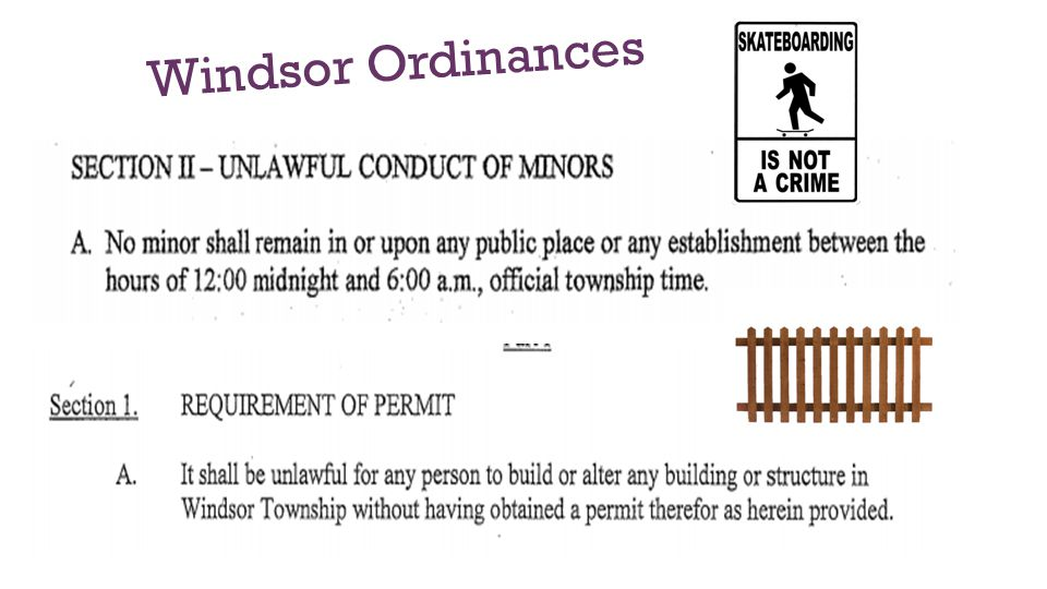 Windsor Ordinances
