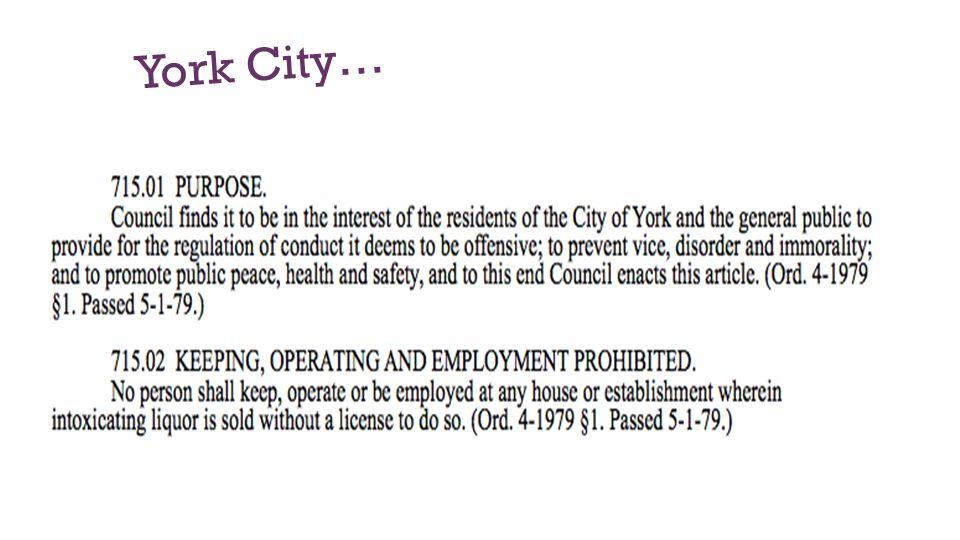 York City…