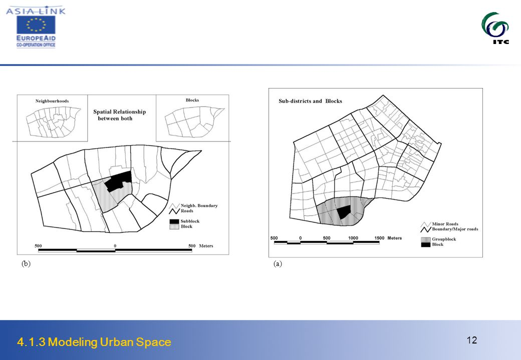4.1.3 Modeling Urban Space 12 (a) (b)