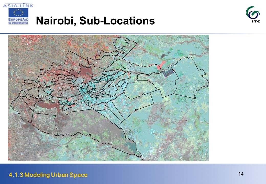 4.1.3 Modeling Urban Space 14 Nairobi, Sub-Locations