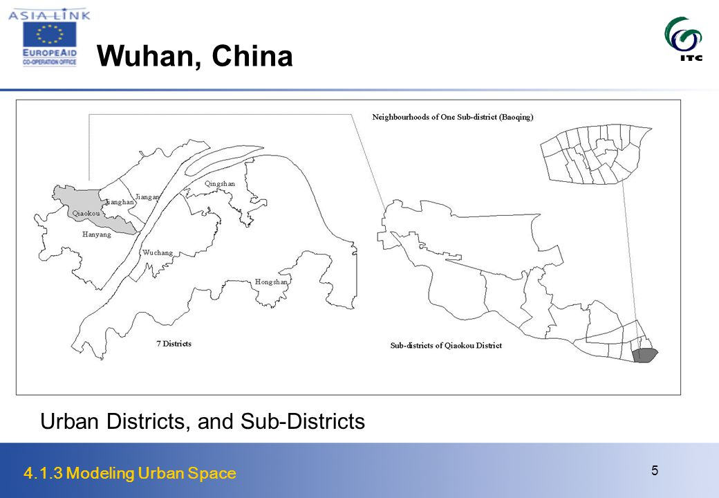 4.1.3 Modeling Urban Space 5 Wuhan, China Urban Districts, and Sub-Districts