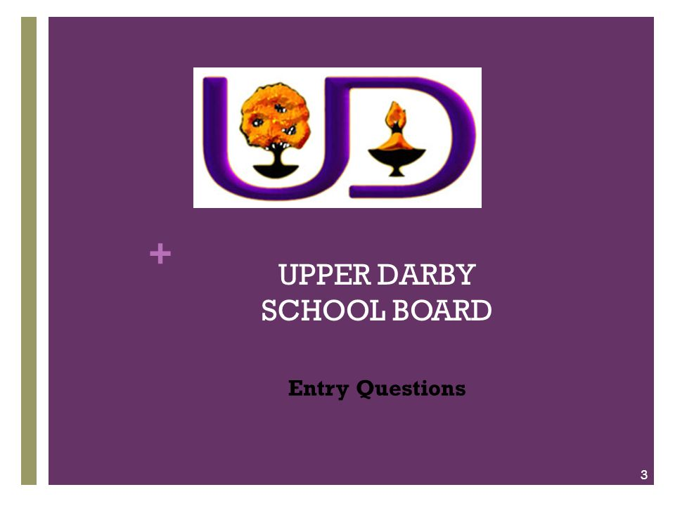 + UPPER DARBY SCHOOL BOARD Entry Questions 3